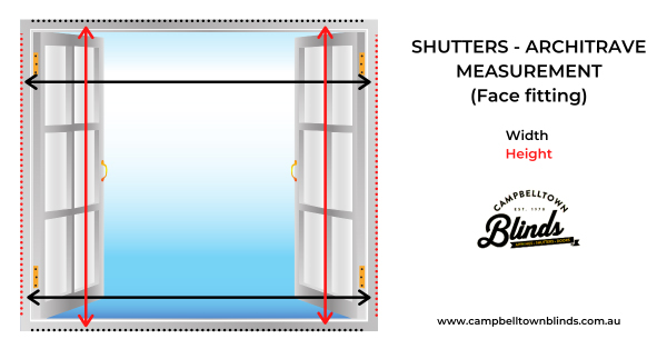 Learn how to take measurements for shutters