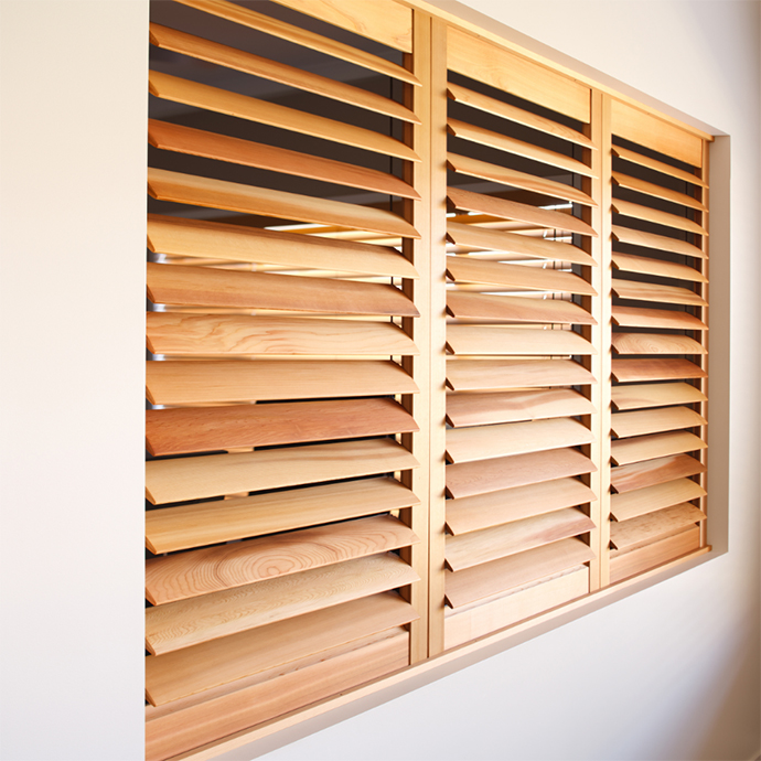 Indoor Cedar Plantation Shutters in the Macarthur Region