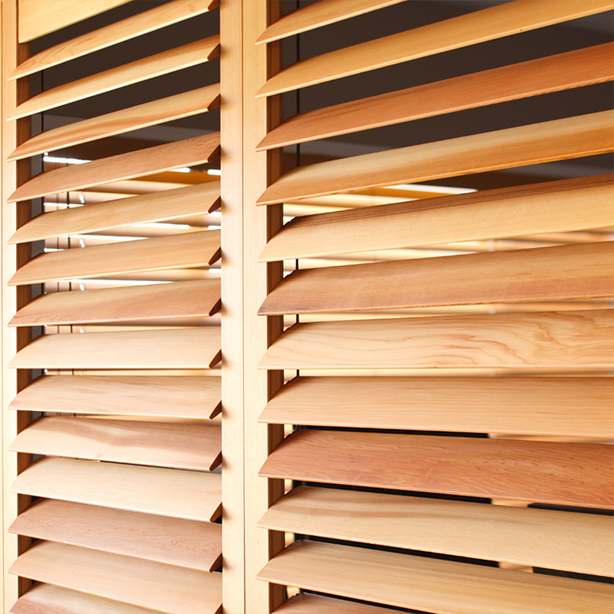 Indoor Cedar Plantation Shutters in Camden