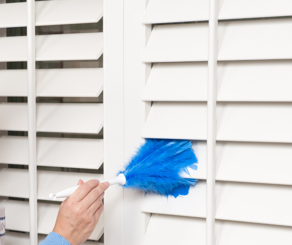 Best way to clean plantation shutters