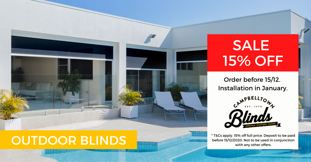Outdoor Blinds and Awnings Promotions in Sydney